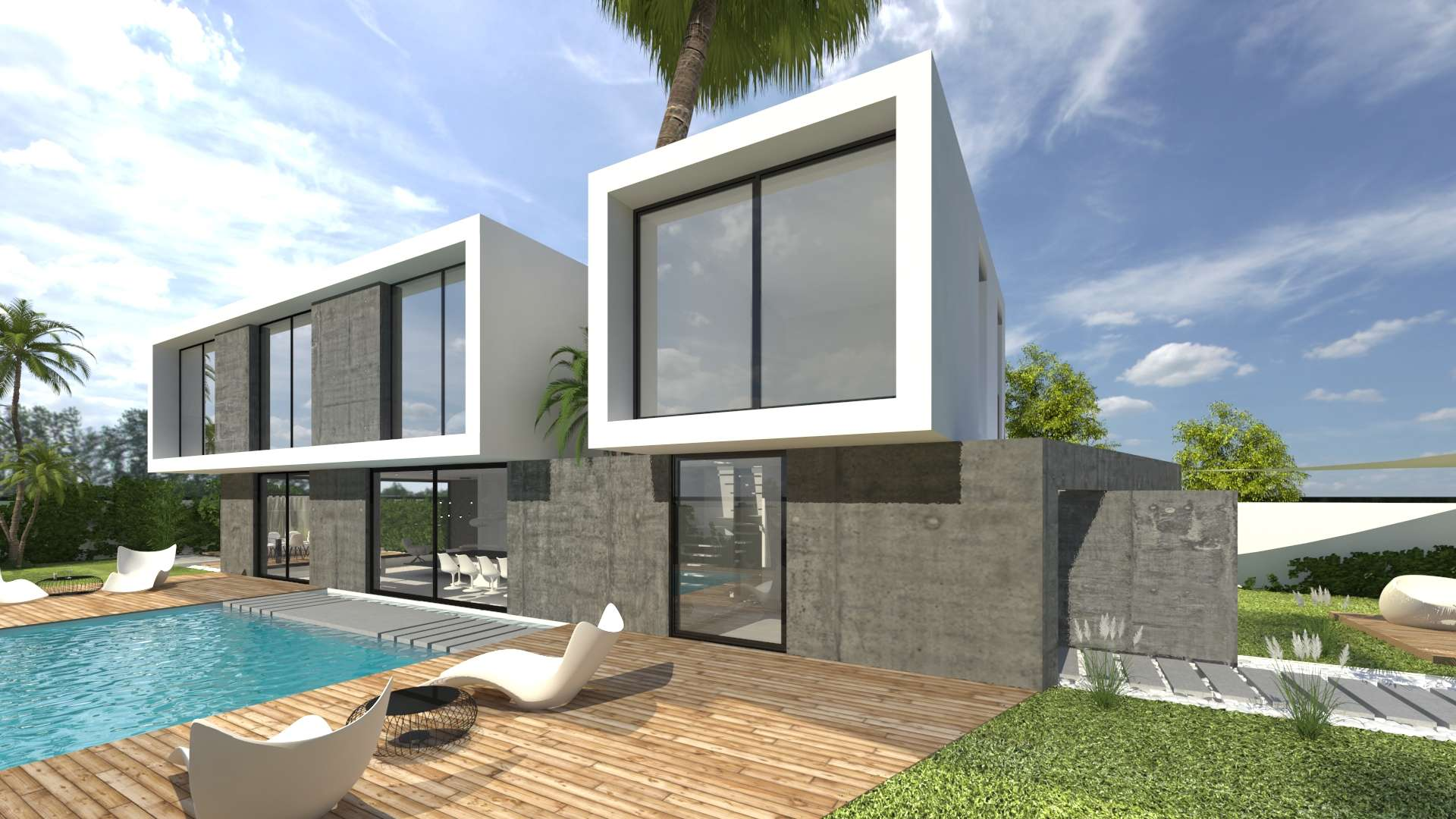 Brand new villa with private garden in Can Girona, Sitges